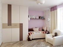 Design de interiores da sala do ` s das crianças para a menina Fotografia de Stock Royalty Free