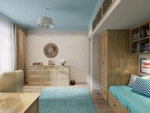 Design de interiores da sala do ` s das crianças para o viajante pequeno Imagem de Stock Royalty Free