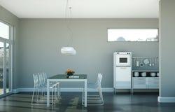 Design de interiores da sala de jantar no apartamento moderno Imagem de Stock Royalty Free