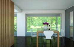 Design de interiores da sala de jantar no apartamento moderno Imagem de Stock