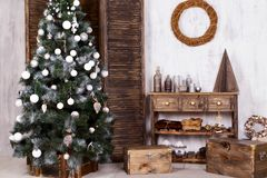 Design de interiores do Natal Foto de Stock Royalty Free