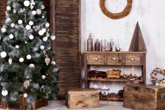 Design de interiores do Natal Fotos de Stock