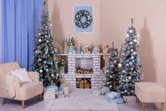 Design de interiores do Natal Fotografia de Stock Royalty Free