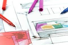 Design de interiores do projeto imagem de stock royalty free