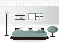Design de interiores do quarto Ilustração do Vetor