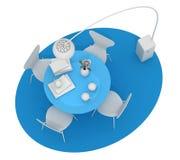 Design de interiores home, mobília do vintage A argila colorida rende, bl Foto de Stock Royalty Free