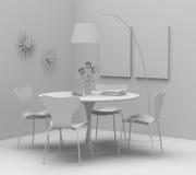Design de interiores Home, mobília retro. A argila rende Fotos de Stock