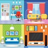 Design de interiores home para a sala de visitas, o quarto e o escritório domiciliário Fu Fotos de Stock Royalty Free