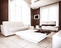 Design de interiores moderno Imagens de Stock Royalty Free