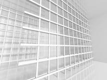 Design de interiores moderno branco Abstraia o fundo da arquitetura Imagem de Stock