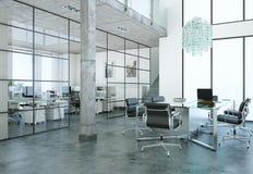 Design de interiores moderno da sala de conferências rendição 3d Fotografia de Stock