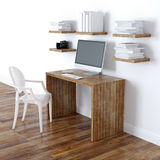 Design de interiores moderno do escritório domiciliário com opinião de perspectiva das estantes Imagem de Stock Royalty Free