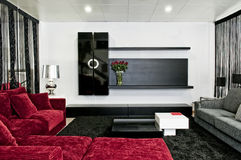 Design de interiores na casa moderna Imagem de Stock