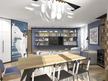 Design de interiores no estilo moderno Fotos de Stock