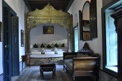 Design de interiores oriental do estilo no restaurante Dar El Je de nobel fotografia de stock