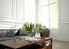 Design de interiores, sala de visitas rendição 3d Imagem de Stock Royalty Free