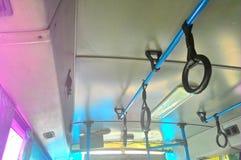 Design de interiores tailandês do ônibus imagens de stock royalty free