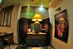 Design de interiores tailandês do restaurante Imagem de Stock