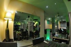 Design de interiores tailandês do restaurante Foto de Stock