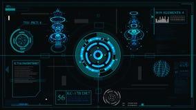 Design de l'interface futuriste HUD-technologie pour recouvrir les jeux visuels et créants hologramme