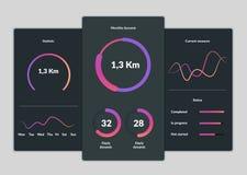 Design de l'interface mobile d'application illustration libre de droits