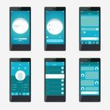 Design de l'interface mobile d'application de calibre illustration stock