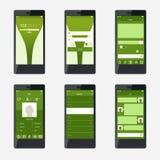 Design de l'interface mobile d'application de calibre illustration libre de droits