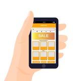 Design de l'interface mobile du vecteur APP Images stock