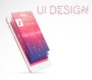 Design de l'interface moderne d'ui Photo libre de droits