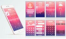 Design de l'interface moderne d'ui Photo stock