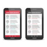 Design de l'interface moderne d'utilisateur Photographie stock libre de droits