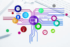 Design de l'interface pour le mobile et l'application Web Image stock