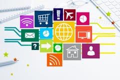 Design de l'interface pour le mobile et l'application Web Image libre de droits