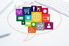 Design de l'interface pour le mobile et l'application Web Photographie stock libre de droits