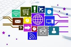 Design de l'interface pour le mobile et l'application Web Photographie stock
