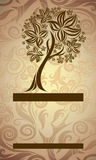 Design with decorative tree from autumn leafs Royalty Free Stock Photo