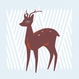 Design with deer Stock Photography