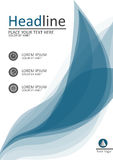 Design der Abdeckung A4 für Bücher, Zeitschriften und Berichte Vektor Stockbilder