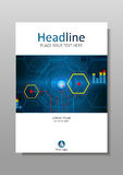 Design der Abdeckung A4 mit HUD, Internet, zukünftige Anzeige Vektor Lizenzfreie Stockbilder