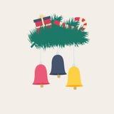 Design der bunten neues Jahr- oder Weihnachtskarte Lizenzfreie Stockbilder