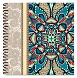 Design der gewundenen dekorativen Notizbuchabdeckung Lizenzfreie Stockbilder