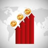 Design der globalen Wirtschaft Stockbild