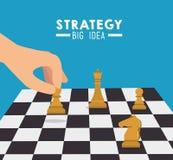 Design der strategischen Planung vektor abbildung