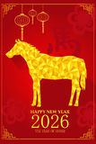 Design des Chinesischen Neujahrsfests für Jahr des Pferds Lizenzfreie Stockbilder
