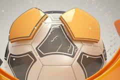 Design des Fußballs 3d stock abbildung