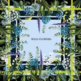 Design des Schals mit wilden Blumen Auch im corel abgehobenen Betrag Stockbilder