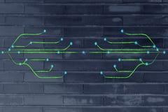 Design des Zusammenhangs durch das Netz Stockfotos