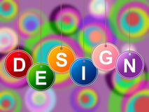 Design Designs Represents Plans Creations And Layouts. Designs Design Meaning Layout Diagram And Lay-Out Royalty Free Stock Images