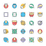 Design and Development Cool Vector Icons 6. Here is a Design and Development  icons pack. Hope you can find a great use for them in your work related to web Royalty Free Stock Photography