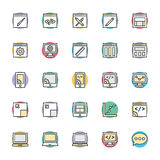 Design and Development Cool Vector Icons 1 Royalty Free Stock Photography